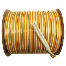 Уплотнитель тип D 100м 9*8мм белый 1м