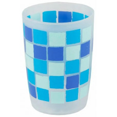 Стакан пласт.син.квадраты 8517 С