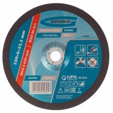 Круг шлифовальный по металлу, 230 х 6.0 х 22.2 мм Gross